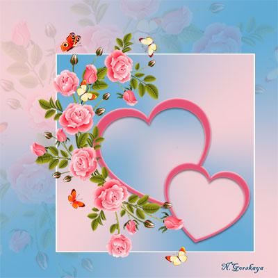 рамка с сердечками