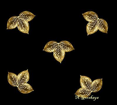 золотые листья в фотошопе