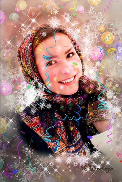 новогодний экшен для фотошопа