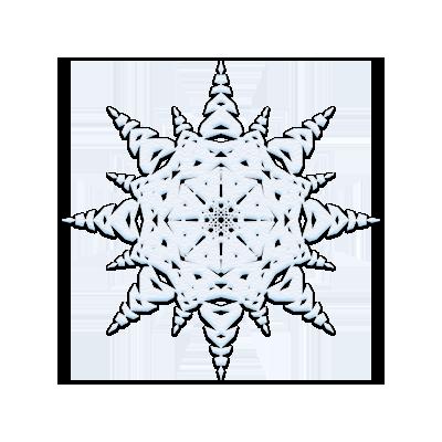 снежинка на прозрачном фоне